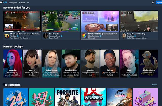 On Mixer's last day, all eyes were on Twitch
