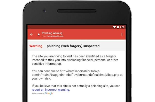Now the Android Gmail app keeps an eye out for phishing links