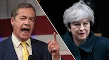'Theresa the Appeaser' - Nigel Farage accuses Prime Minister of 'dancing to the EU's tune' over Brexit negotiations