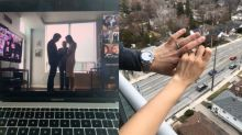 'We're married, and that's what matters': Toronto couple wed in virtual ceremony due to COVID-19