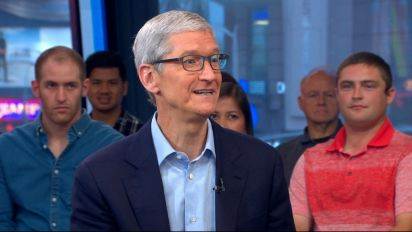 Apple CEO 'encouraged' by Trump's movement on 'Dreamers'