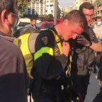 Beirut citizen thanks French firefighters as cleaning and rescue efforts continue