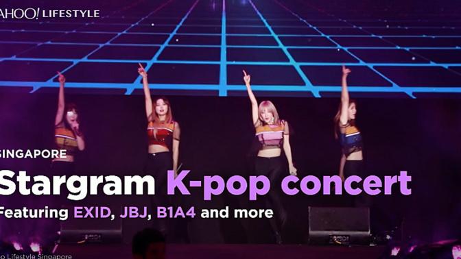 VIDEO: EXID, JBJ and B1A4 at Stargram K-pop concert