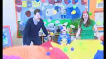 Nick Clegg plays in Scottish nursery school