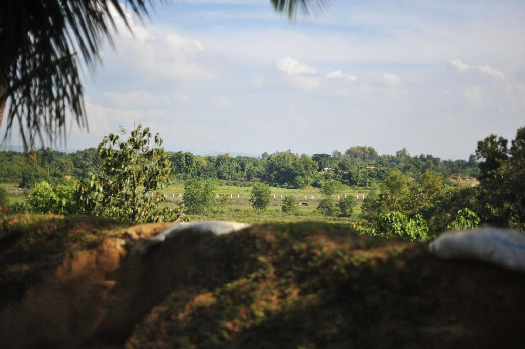 The Myanmar border near Naikhongchhari where Bangladeshi forces handed over a Myanmar soldier who had strayed across the frontier