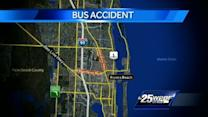 5 kids treated at hospital following bus crash