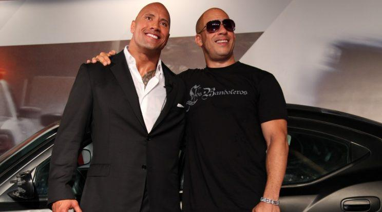 The Rock 'Forgets' Vin Diesel On Fast & Furious 8 Wrap Tributes