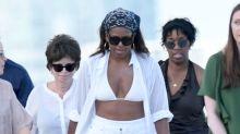Michelle Obama genießt den Urlaub im sexy weißen Bikini
