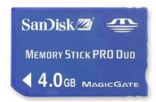 Deal of the day: 4GB Memory Stick Pro Duo $90