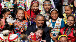 Obama avoids pipeline comment but urges tribal sovereignty