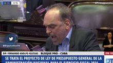"""La chicana de Fernando Iglesias en el debate por el Presupuesto: """"Hasta al Papa manejan"""""""