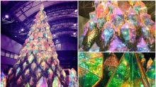日本超靚聖誕樹 半透明菱形寶石內藏燈飾