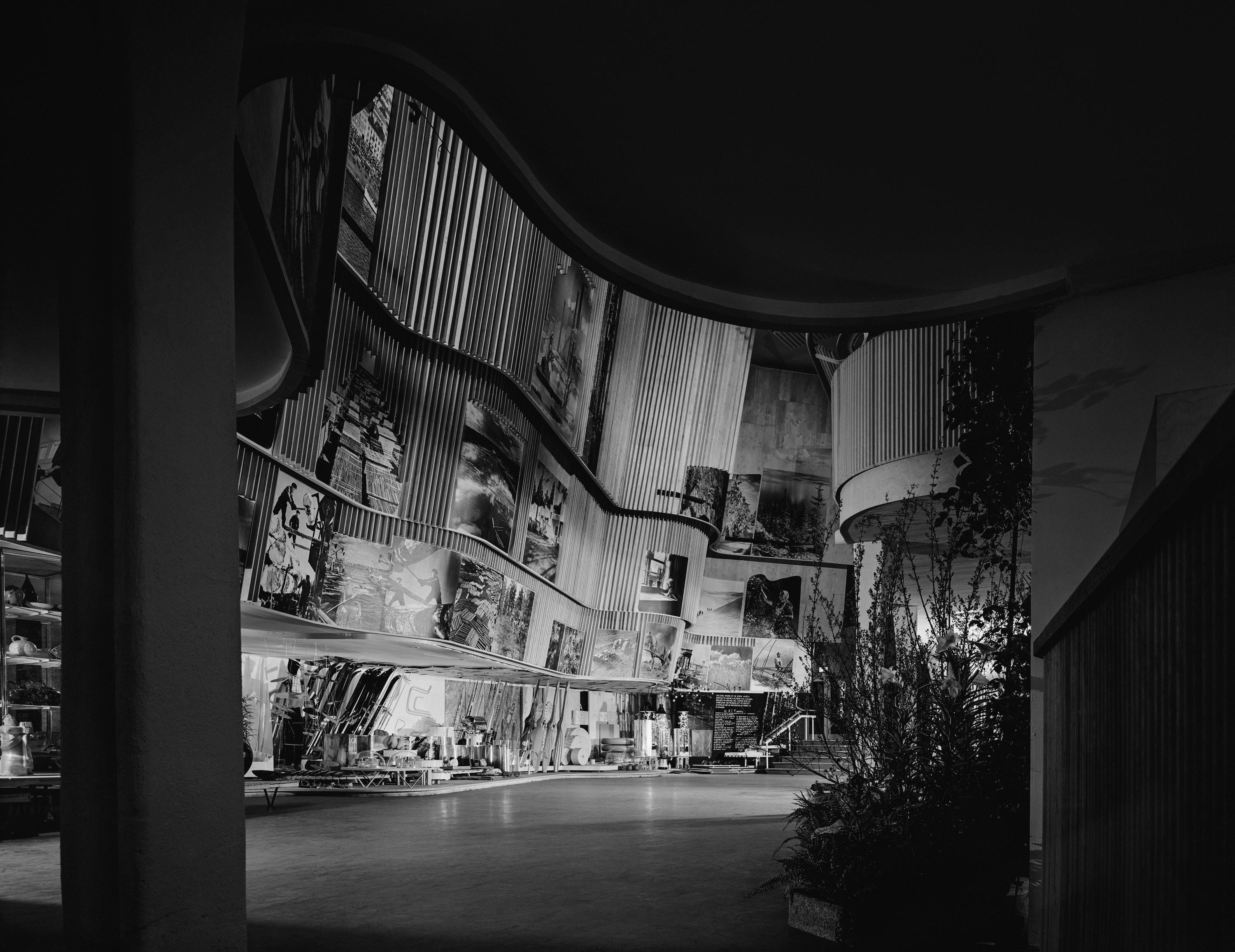 A major moment in Stoller's early career was being contracted by news agency Underwood & Underwood to photograph the pavilions of the 1939 New York World's Fair, including Alvar Aalto's Finnish Pavilion.