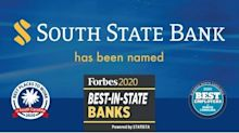 "South State Bank Earns Forbes' ""Best-in-State Banks"" Distinction, Best Workplace Awards"