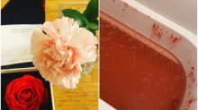 日本媽媽母親節收「浸浴紅玫瑰」 試用發現超恐怖