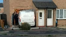 Great-grandmother killed by car smashing into her house 'while on the phone to family'