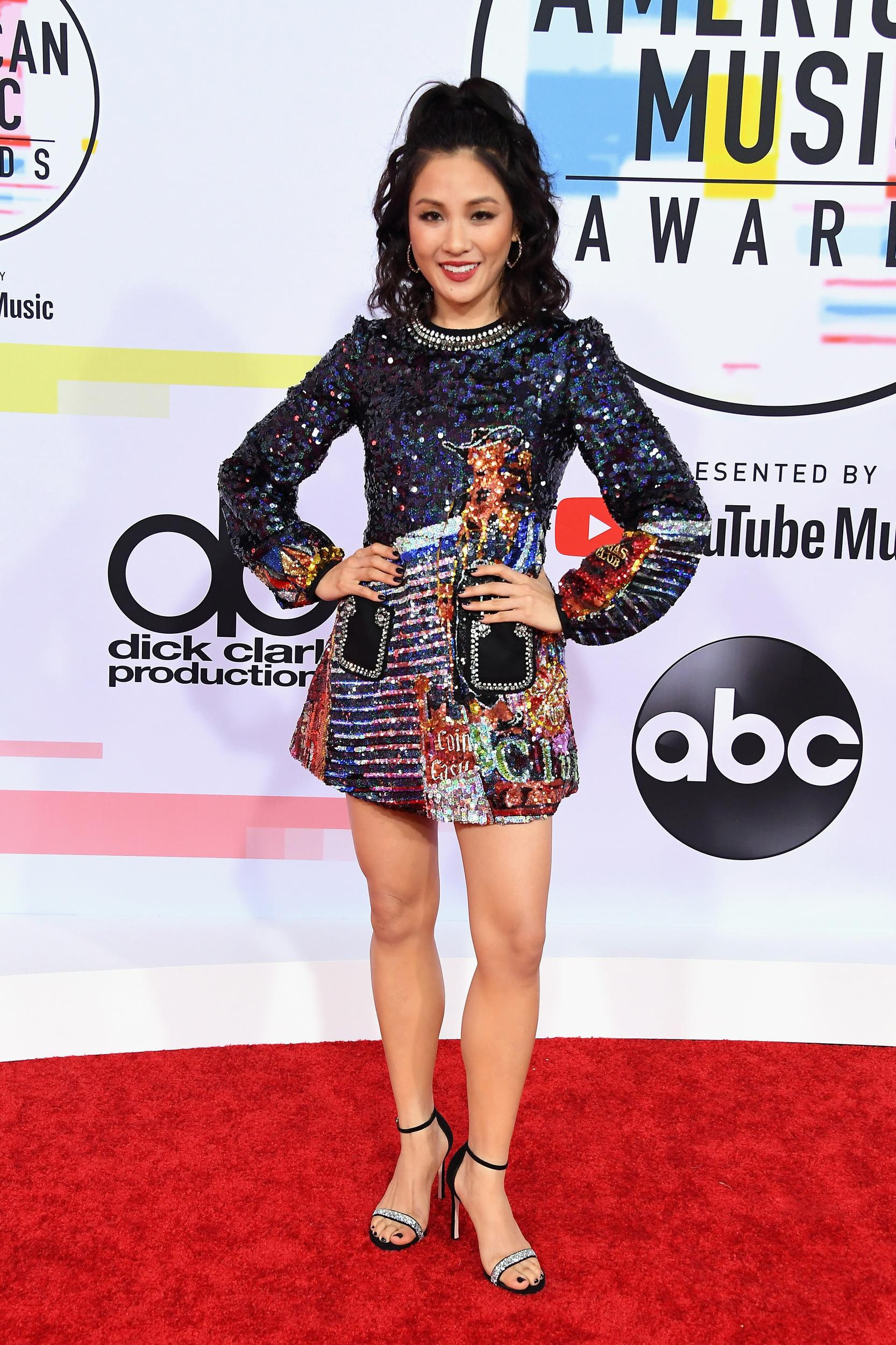 LOS ANGELES, CA - OCTOBER 09:  Constance Wu attends the 2018 American Music Awards at Microsoft Theater on October 9, 2018 in Los Angeles, California.  (Photo by Steve Granitz/WireImage)