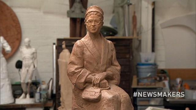 Sculptor Eugene Daub: Rosa Parks 'Made a Stand by Sitting'