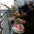 Distraught families of Sriwijaya Air victims visit Java Sea crash site