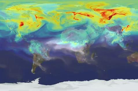 Here's what a year's worth of carbon dioxide looks like