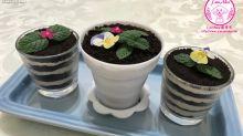 【甜品食譜】木糠布甸小盆栽
