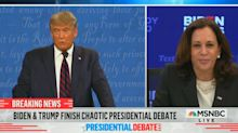 Kamala Harris on Trump's message to white supremacist groups: 'A dog whistle through a bullhorn'