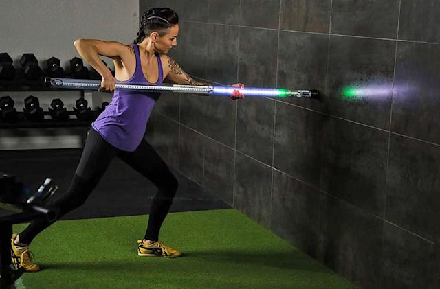 Exercise stick trains your muscles with light-based feedback