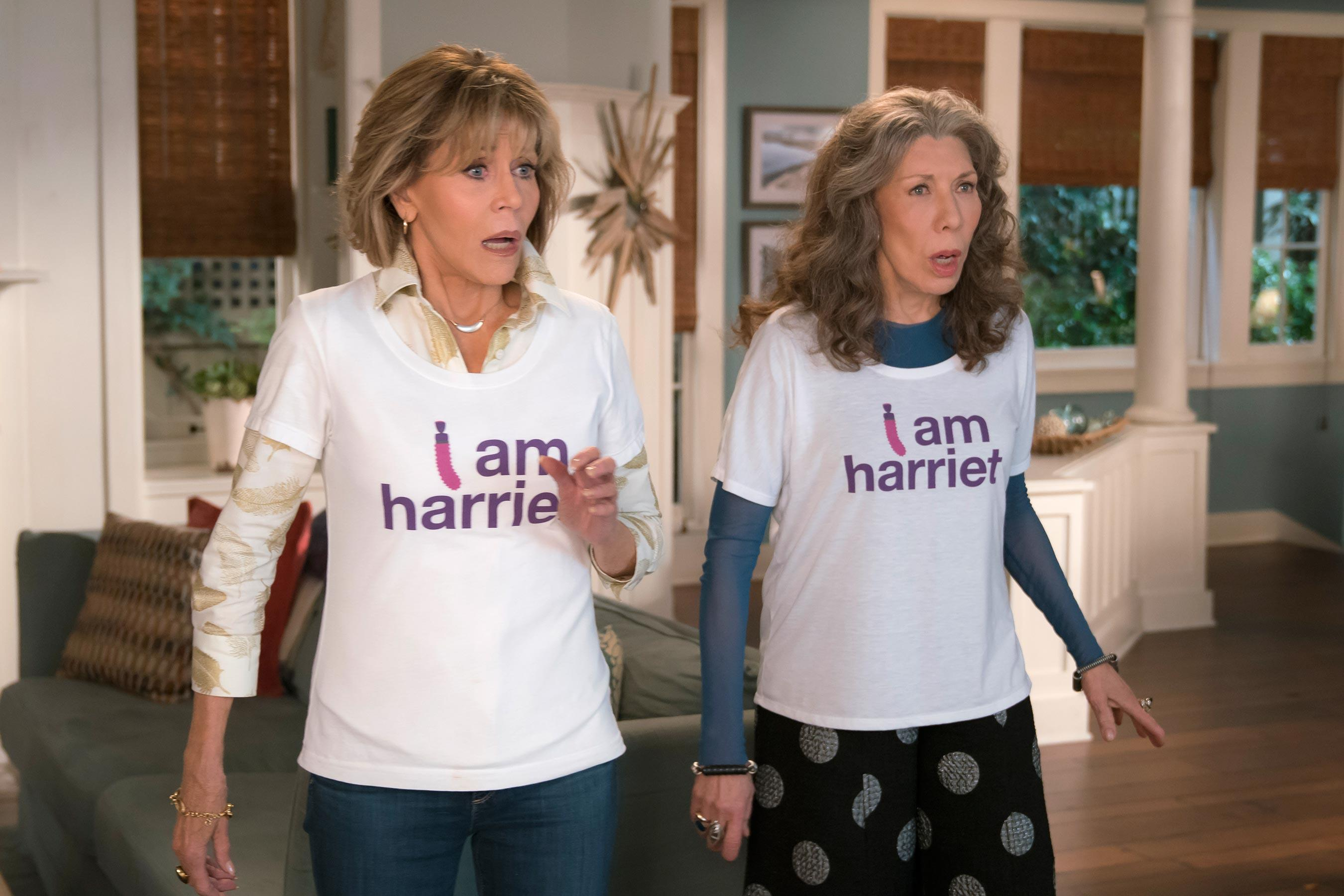 grace and frankie meet lisa kudrow in season 4 trailer. Black Bedroom Furniture Sets. Home Design Ideas