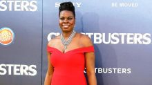 Leslie Jones Looks Red Hot in Christian Siriano at 'Ghostbusters' Premiere