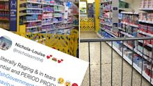 Woman 'in tears' after supermarket stops her buying sanitary item