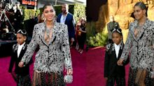 Beyoncé and Blue Ivy Look Regal AF at the 'Lion King' Premiere