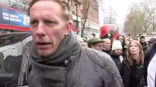 Laurence Fox criticises 'despicable' police at lockdown protest