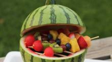 Watermelon Grill and Fruit Kabobs from'Oh, What a Treat!'