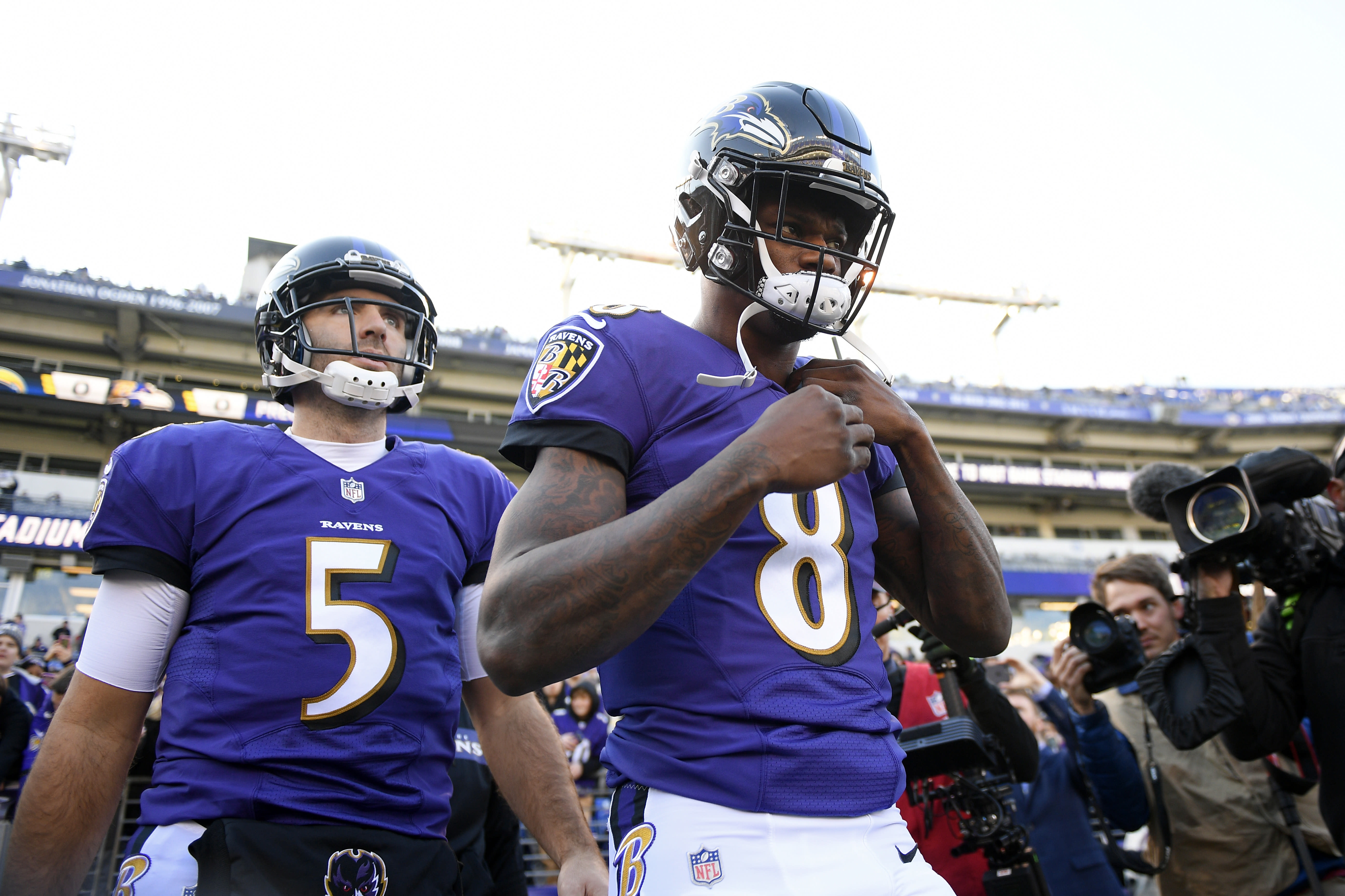 best service 449e5 3d680 Harbaugh indicates Flacco has played last game for Ravens