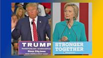 Donald Trump, Hillary Clinton Fight to Win Battleground States