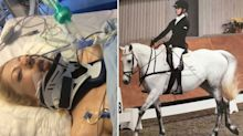 Paralysed jockey rides horse again after miraculous recovery