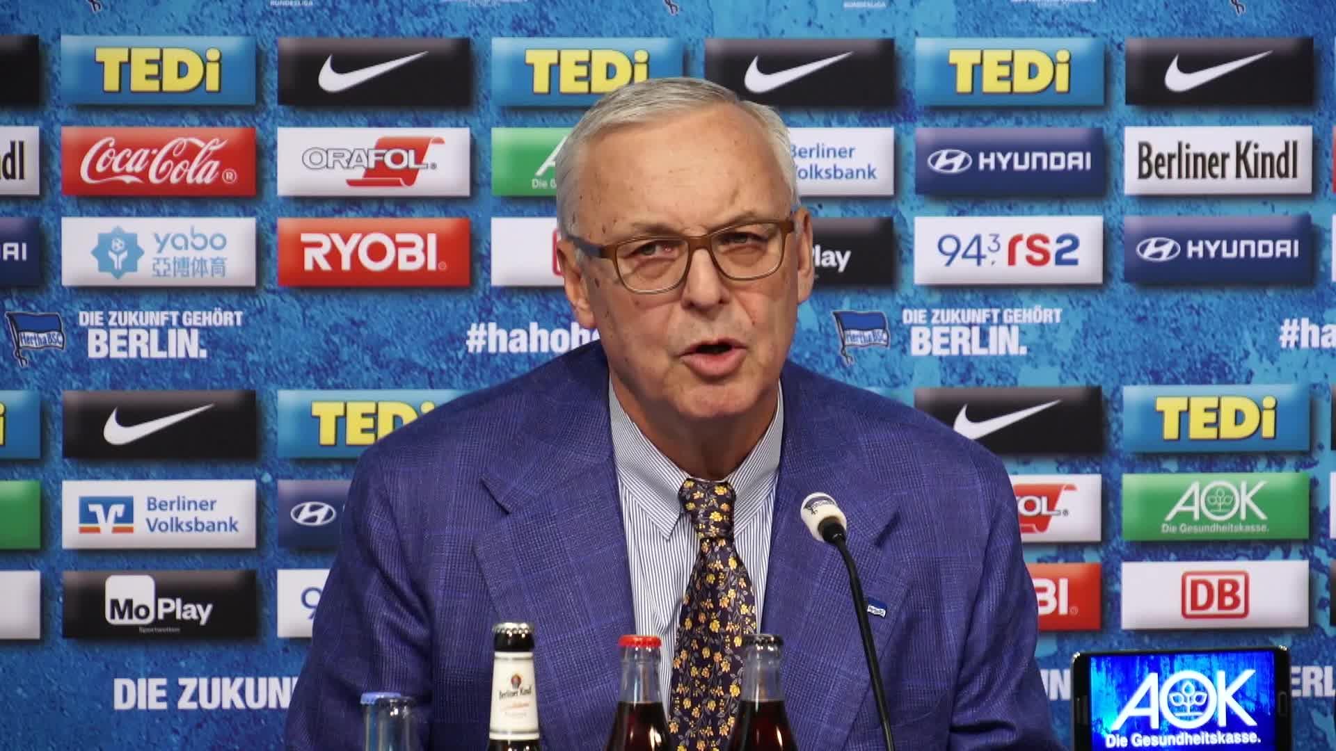 Hertha-Boss Gegenbauer: Kein Chaos, aber Schock [Video]
