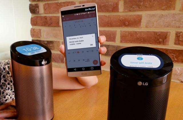 LG has a smarthome hub that looks a lot like an Amazon Echo