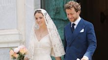 Bee Shaffer's Italian wedding dress was as stylish as you would expect