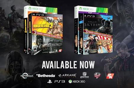 BioShock Infinite and Skyrim, Borderlands 2 and Dishonored retail bundles out today