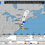 Warnings issued for Jersey Shore as Tropical Storm Fay set to bring rain, wind, tornadoes