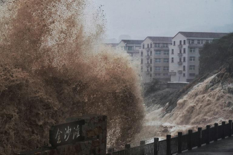 More than a million people were evacuated from their homes in east China ahead of the storm (AFP Photo/-)