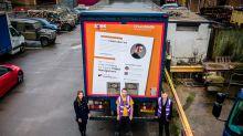 Dad made redundant due to coronavirus puts giant CV on lorry and lands new job