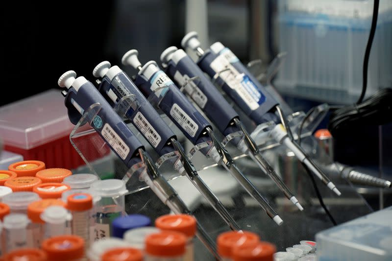 FILE PHOTO: Sorrento Therapeutics in San Diego works on developing an antibody