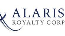 Alaris Royalty Corp. Declares August Dividend