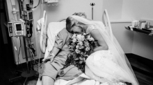 Bride Visits Grandmother in Hospital Wearing Her Wedding Gown