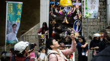 Hong Kong's Lunar New Year fairs get a protest makeover