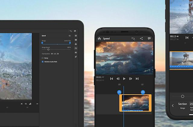 Adobe adds pro-level speed controls to Premiere Rush CC