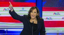 'Racist and vile': Democrats unite after Trump Jr. shares post questioning Kamala Harris's race