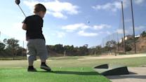 2-Year-Old Golfer Has Quite The Swing